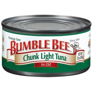 Bumble Bee Tuna in oil (not water for me - still has been almost 28 years since eating), April 30, 2016. (http://www.upcitemdb.com).