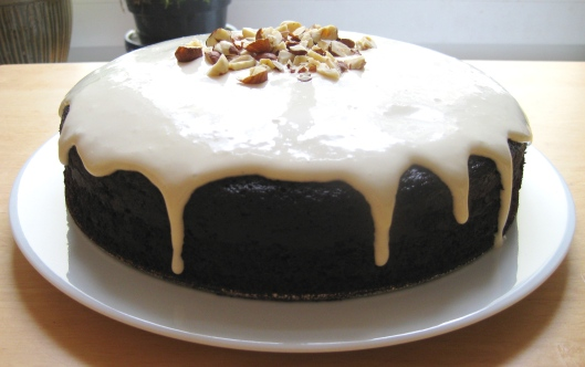 Guinness Chocolate Cake with Bailey's Cream Cheese Glaze (may make this for us after wifey gets back) March 17, 2010. (https://culinspiration.files.wordpress.com/).