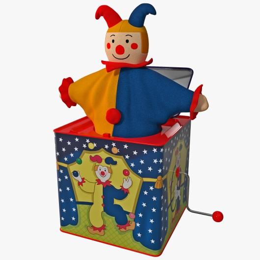 Jack-In-The-Box 3D model, April 5, 2016. (http://turbosquid.com).