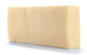 A block of Monterey Jack in all its bland whiteness, January 13, 2015. (Mitch Mandel via http://menshealth.com).