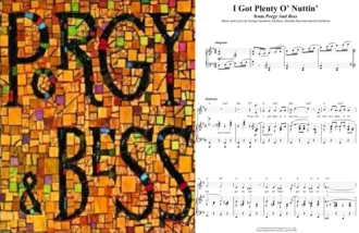 "George Gershwin's Porgy & Bess, with ""I Got Plenty O' Nuttin'"" (1935), oft sung by Ella Fitzgerald and Louie Armstrong (among others), April 1, 2016. (cropped and combined)."