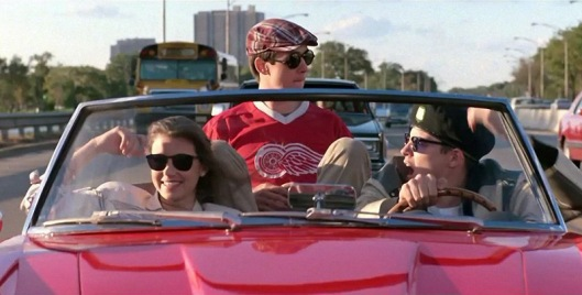 Mia Sara, Alan Ruck, and Matthew Broderick in Ferris Bueller's Day Off (1986) screen shot, June 16, 2016. (http://www.playbuzz.com).