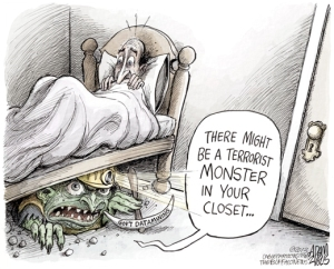 Data Mining/Fear of the Unknown cartoon, Adam Zyglis, Buffalo News, July 6, 2013. (http://adamzyglis.buffalonews.com/2013/07/06/data-mining/).