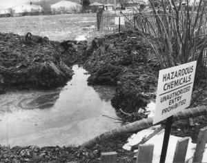 Love Canal, suburban community turned EPA Superfund site, circa 1980. (http://buffalonews.com).