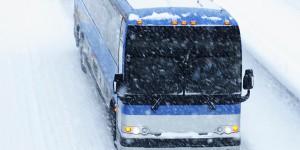 Greyhound Bus and blizzard, Vancouver, BC, Canada, circa 2015. (http://huffingtonpost.com).