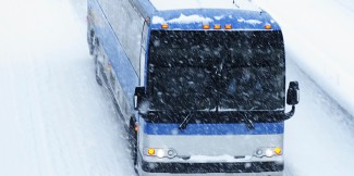 Greyhound Bus and blizzard, Vancouver, BC, Canada, circa 2015. (http://huffingtonpost.com).