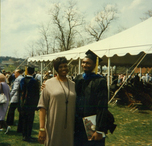 Angelia & me at my PhD graduation, Carnegie Mellon University, Pittsburgh, PA, May 18, 1997.